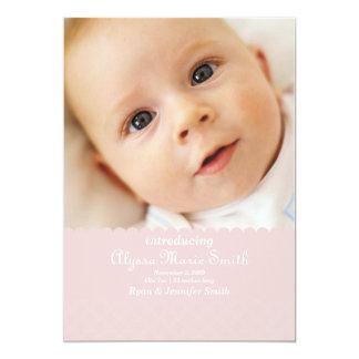 pink birth announcement