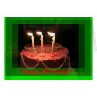 Pink Birthday Cake (close up ) Birthday CARD!! Card