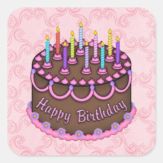 Pink Birthday Cake sticker