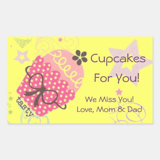 Pink Birthday Cupcake Cake Gift in a Jar Label