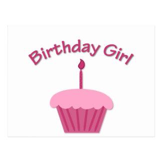 Pink Birthday Cupcake Postcard