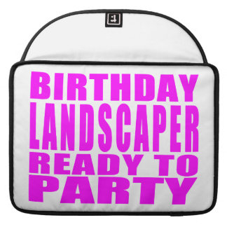 Pink Birthday Landscaper Ready 2 Party Sleeves For MacBooks