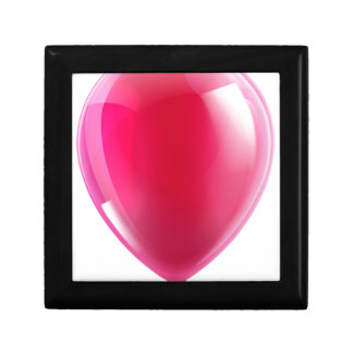 Pink birthday or party balloon jewelry box