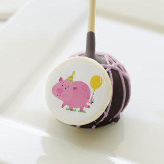 Pink Birthday Party Pig Cake Pops