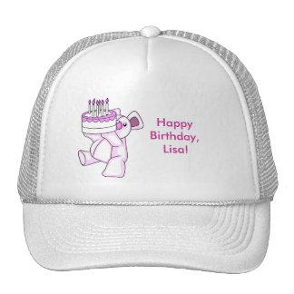 Pink Birthday Teddy Bear Party Theme Trucker Hat