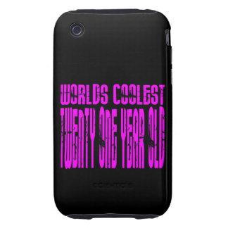 Pink Birthday Worlds Coolest Twenty One Year Old iPhone 3 Tough Case