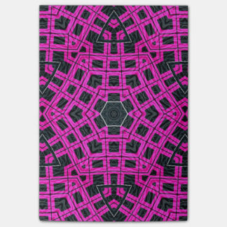 Pink Black Abstract Post-it® Notes