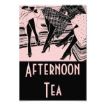 Pink & Black Afternoon High Tea Party Invitation