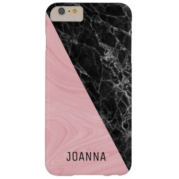 Pink Black And Gray Marble Barely There iPhone 6 Plus Case