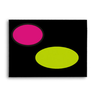 Pink Black and Lime Green With Flower Envelopes