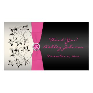 Pink, Black, and Silver Favor Tag profilecard