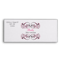 pink black and white Chic Business envelopes