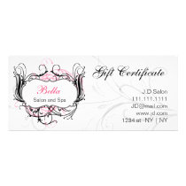 pink,black and white Chic Gift Certificates