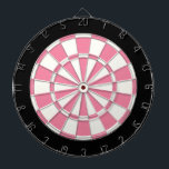 "Pink Black And White Dartboard With Darts<br><div class=""desc"">Pink Black And White Dart Board</div>"