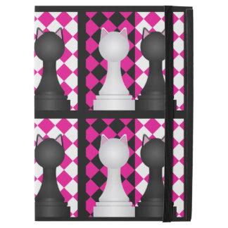 "Pink, Black, and White Ninjacat Pawns iPad Pro 12.9"" Case"