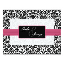 pink,black and white rsvp cards