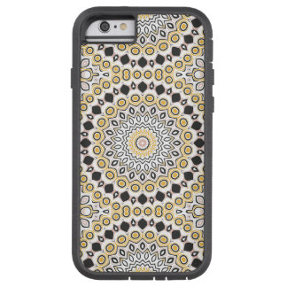 Pink, Black and Yellow Kaleidoscope Flowers Design Tough Xtreme iPhone 6 Case