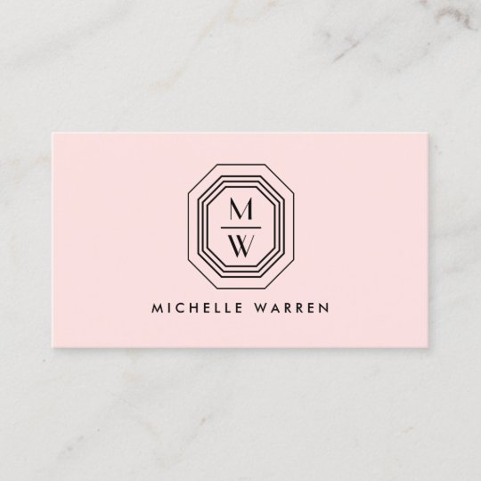 Pinkblack art deco monogram beauty business card zazzle pinkblack art deco monogram beauty business card reheart Gallery