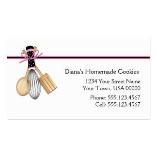 Pink Black Baking Business Card