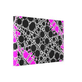 Pink Black Bling Canvas Print