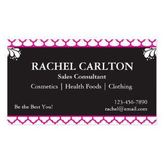 Pink & Black Business Cards