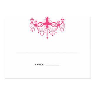 Pink & Black Chandelier Place Cards