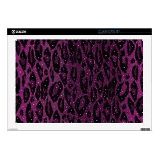 Pink Black Cheetah Stars Laptop Skin