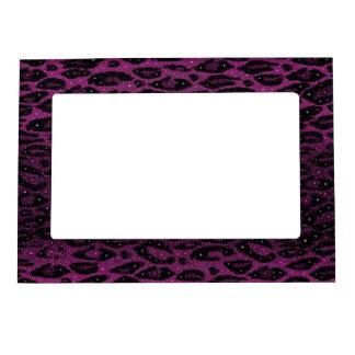 Pink Black Cheetah Stars Magnetic Photo Frame