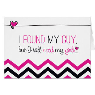 Pink/Black Chevron Will you be my Bridesmaid? Card