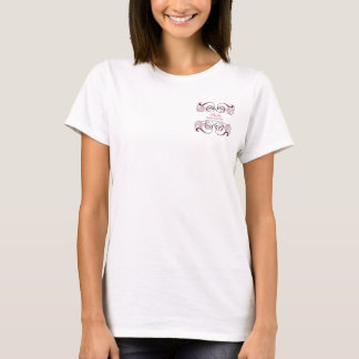 pink black  Chic Business promotional Tshirt