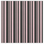 [ Thumbnail: Pink & Black Colored Pattern Fabric ]