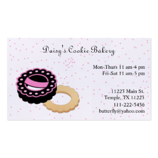 Pink & Black Cookie Bakery Business Card