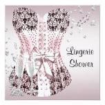 Pink Black Corset Lingerie Bridal Shower Custom Announcement