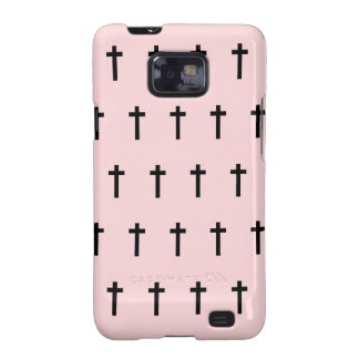 Pink Black Crosses Galaxy S2 Cover