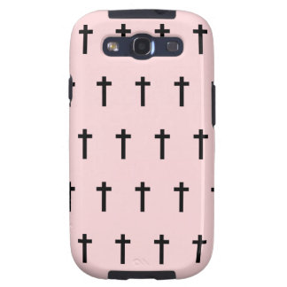 Pink Black Crosses Galaxy S3 Covers