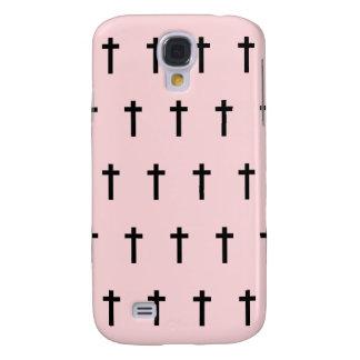Pink Black Crosses HTC Vivid Case