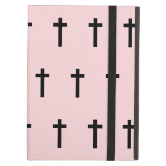 Pink Black Crosses iPad Covers