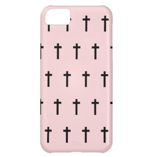 Pink Black Crosses iPhone 5C Cover