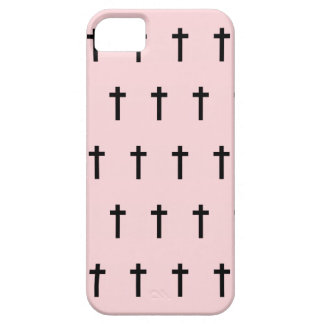 Pink Black Crosses iPhone SE/5/5s Case