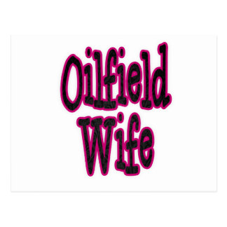 Pink Black Damask Oilfield Wife Postcards