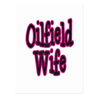 Pink Black Damask Oilfield Wife Postcard