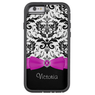 Pink Black Damask Pattern Xtreme iPhone 6 Case