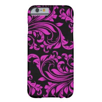 Pink & Black Damask Patterns iPhone 6 case