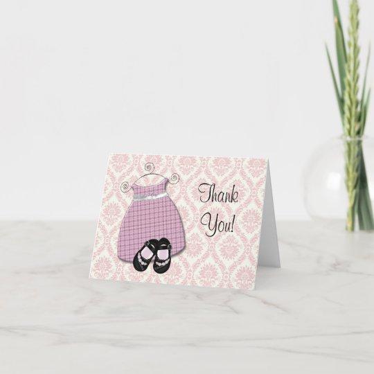 Girl Elephant Baby Shower Thank You Cards Zazzle Com
