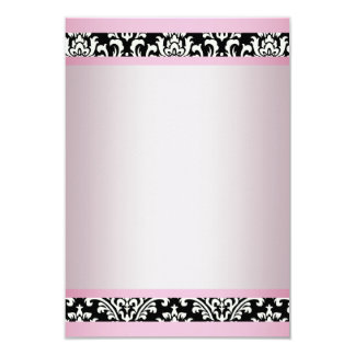 Pink Black Damask Template