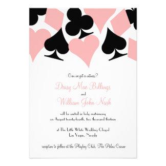 Pink Black Destiny Las Vegas Wedding Invitation
