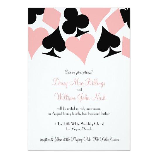 pink black destiny las vegas wedding invitation - Las Vegas Wedding Invitations