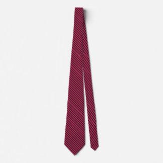 Pink & Black Diagonal Stripe Men's Dress Tie