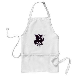 pink black dragon adult apron