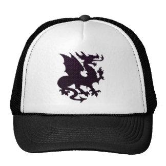 pink black dragon trucker hat